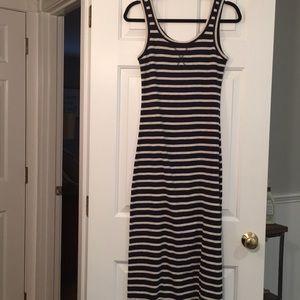 New LOFT striped maxi dress